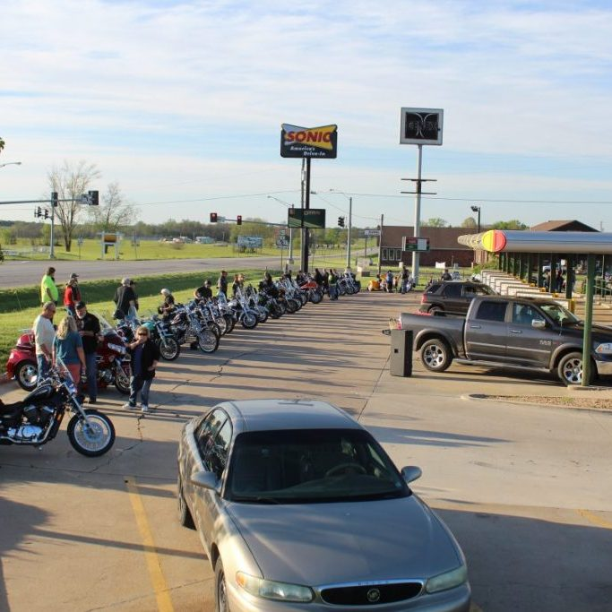 Photo by Shari Harris The Motorcycle Cruise-In at Sonic resumed last week, on Thursday, April 29. Organizers report 68 bikes were at the event. The event offered an opportunity for old friends to become reacquainted, as the event was canceled throughout 2020. If you missed the first one, don't despair. The event is planned for the last Thursday of the month throughout the summer.