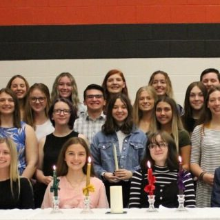 Photo submitted The LHS National Honor Society, from left, seated: Aubrie Stephens, Cadrian Hutsell, Nissa Buchanan and Clifford Hawn; second row: Krysta Joyner, Anna Sullins, Maddie Lilly, Sierra Tomory, Marianna Sanchez, Rilee Sundell, Kaleigh Fox, Jennsen Vestal, Kimrey Krewson and Kasey Richards; third row: Landon Medlock, Kamryn Barnes, Alex Buckner (face covered), Makayla Hackman, Keyton Rinne, Aubri Tillery, Gracie Elledge, Emma Taber, Cole Wallace, Winter Murray; and back row: Maci Sparks, Abbie Sullins, Kiley Ingram, Kaida Cook, Kyson Quick, Carson Chambers (face covered).