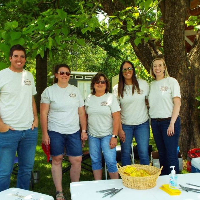 Photo by Christy Porter Town & Country Bank employees from left: Sheldon Shaver, Rachel Clayton, Michelle Roper, Lacey McNiel and Shannon Sanders.